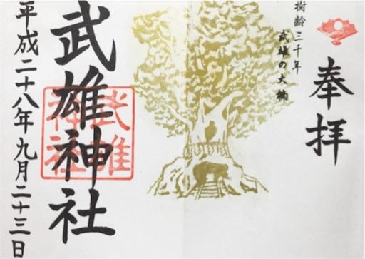 【武雄神社(佐賀)御朱印】金色の見開き御朱印が珍しい!大楠は必見