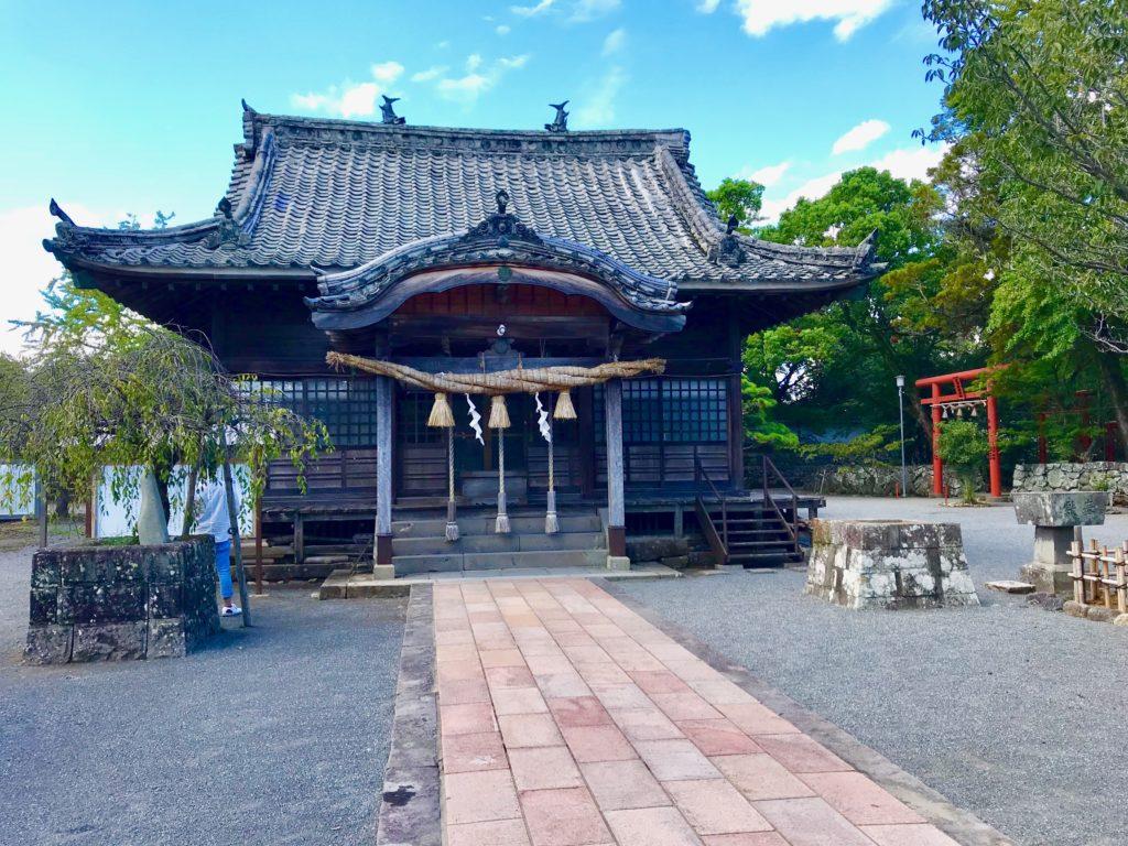 【大村神社(長崎)御朱印】石垣が残る「大村桜」名所の神社!