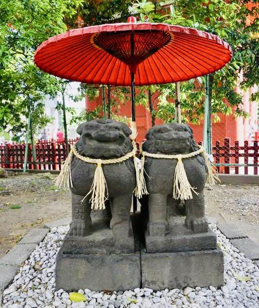 【浅草神社(東京都)御朱印】仲睦まじい狛犬のいる神社