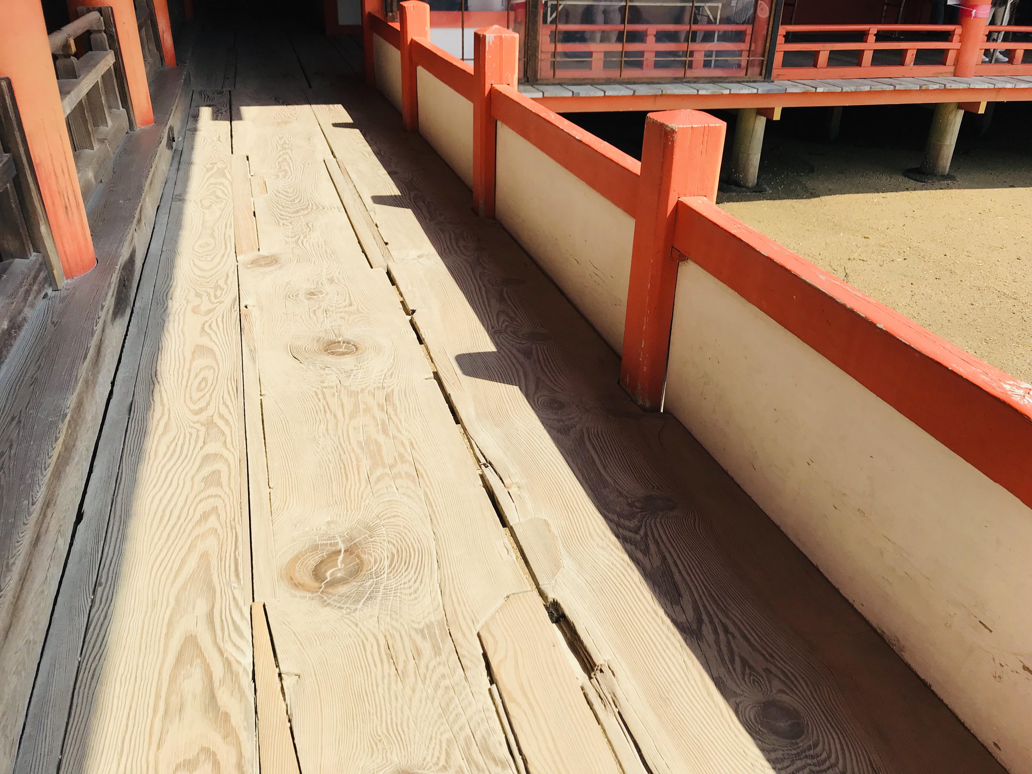 厳島神社の水害の被害と復興