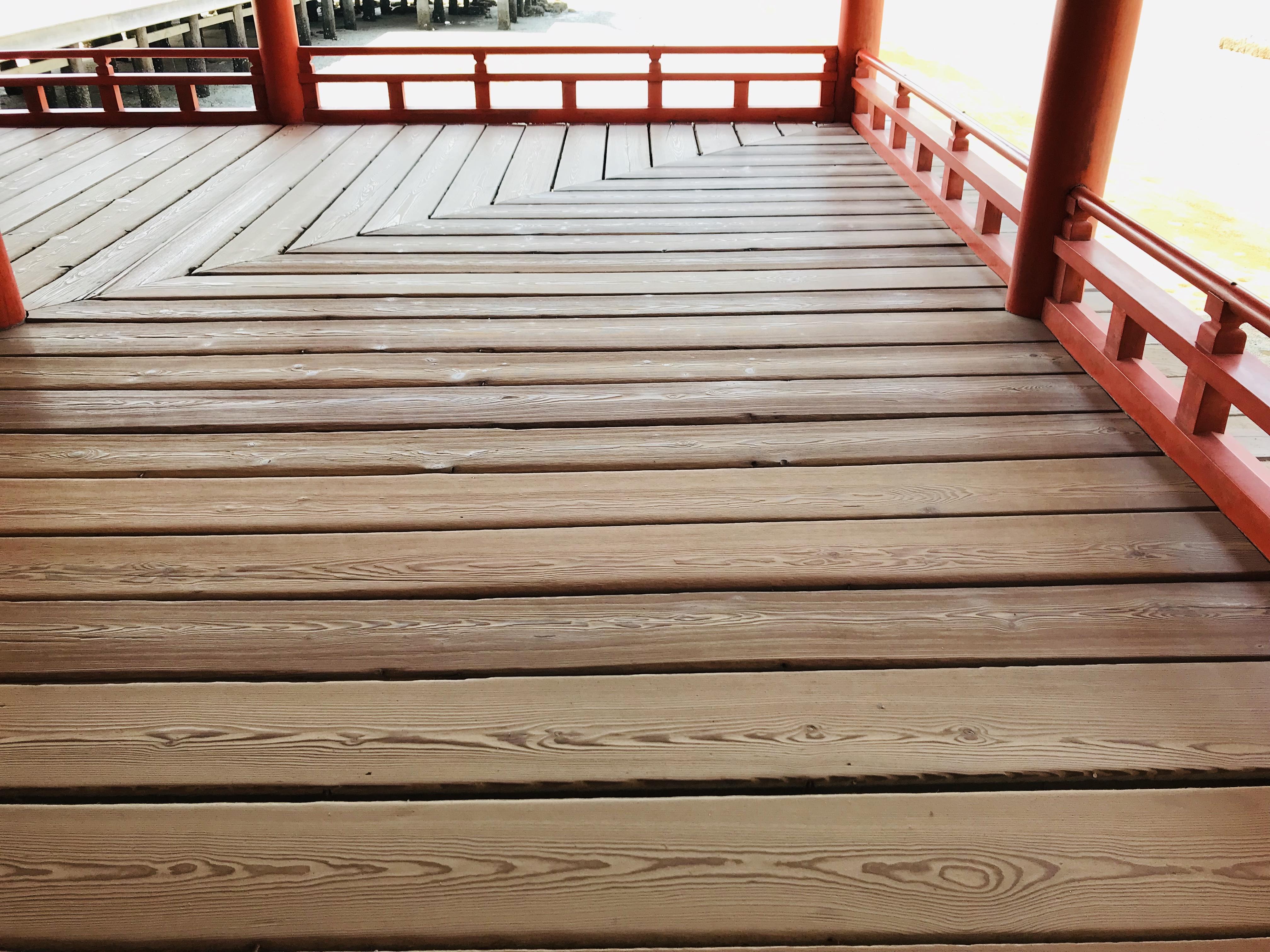 何度も水害に耐えた厳島神社