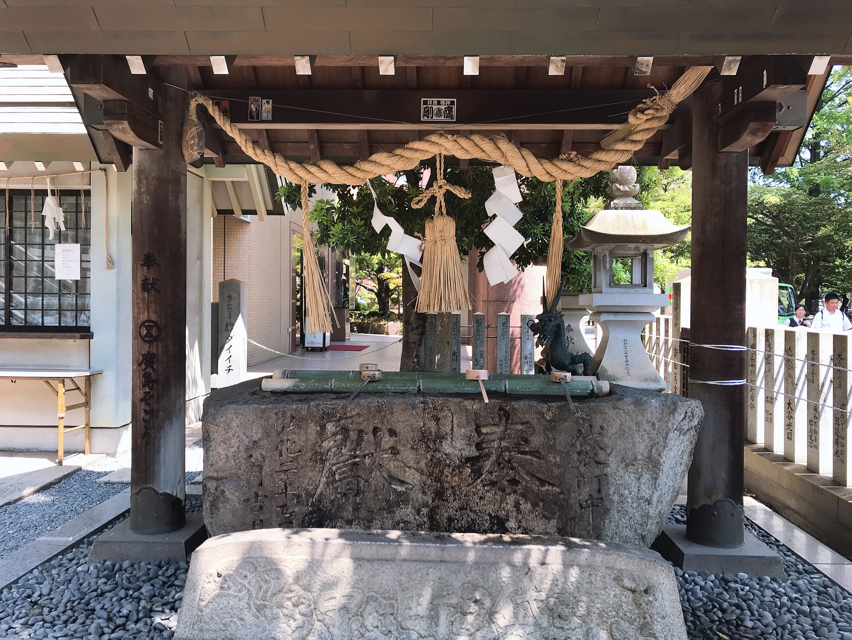 白神社の手水舎