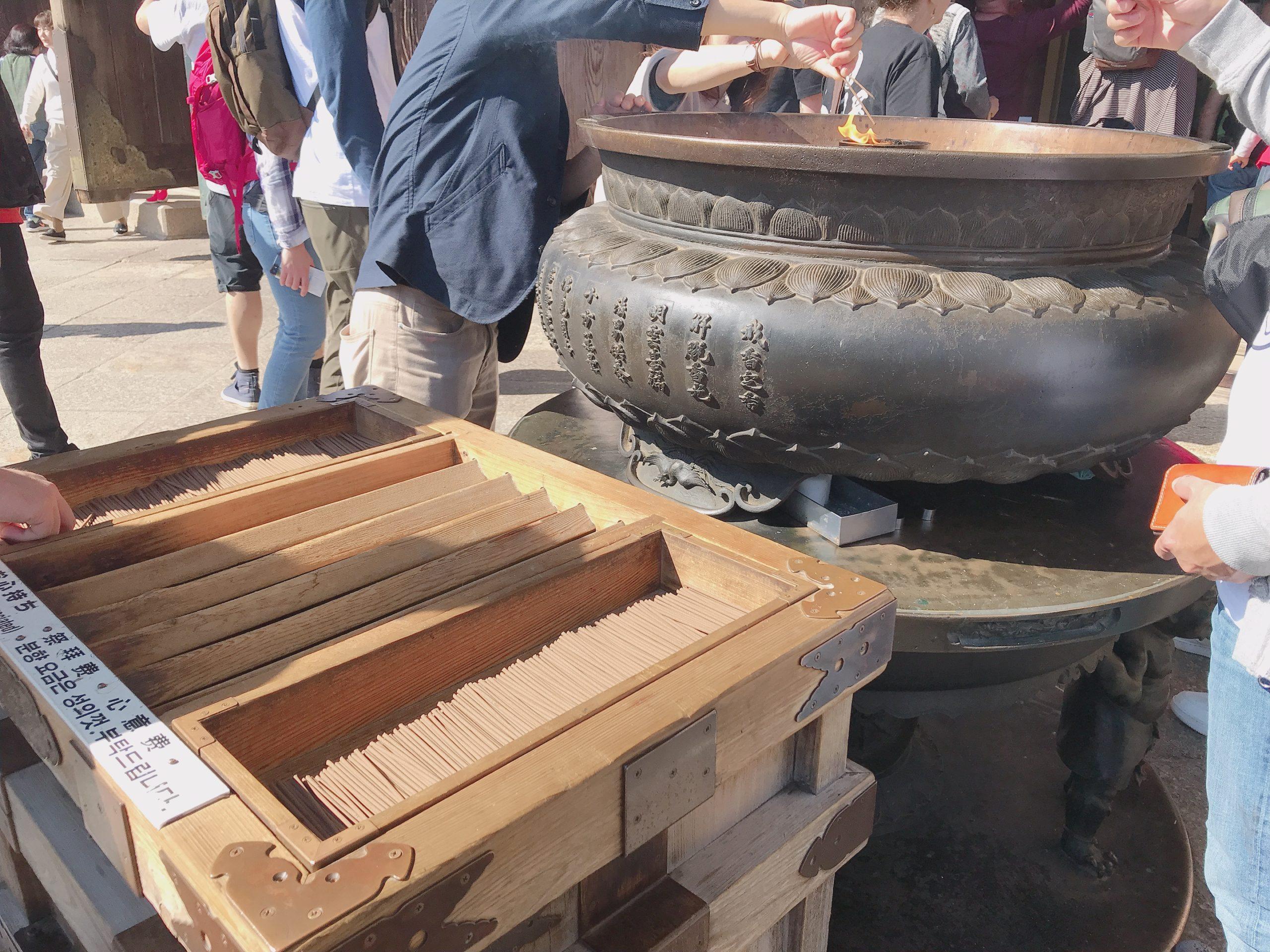 東大寺のお線香