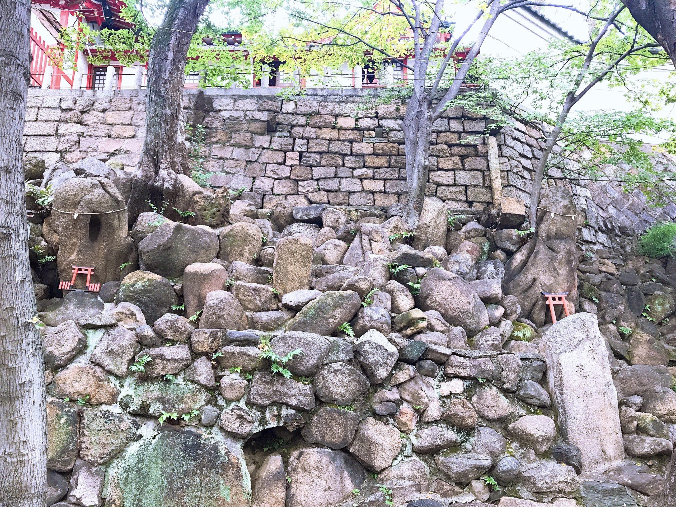 高津宮の陰陽石で家庭繁栄