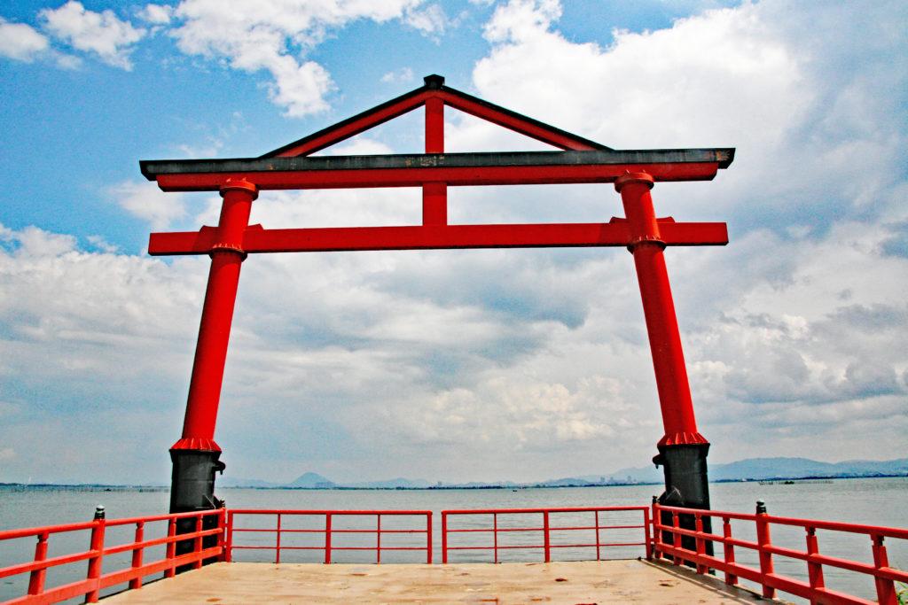 日吉神社(熊本市)珍しい山王鳥居が迎えてくれる神社
