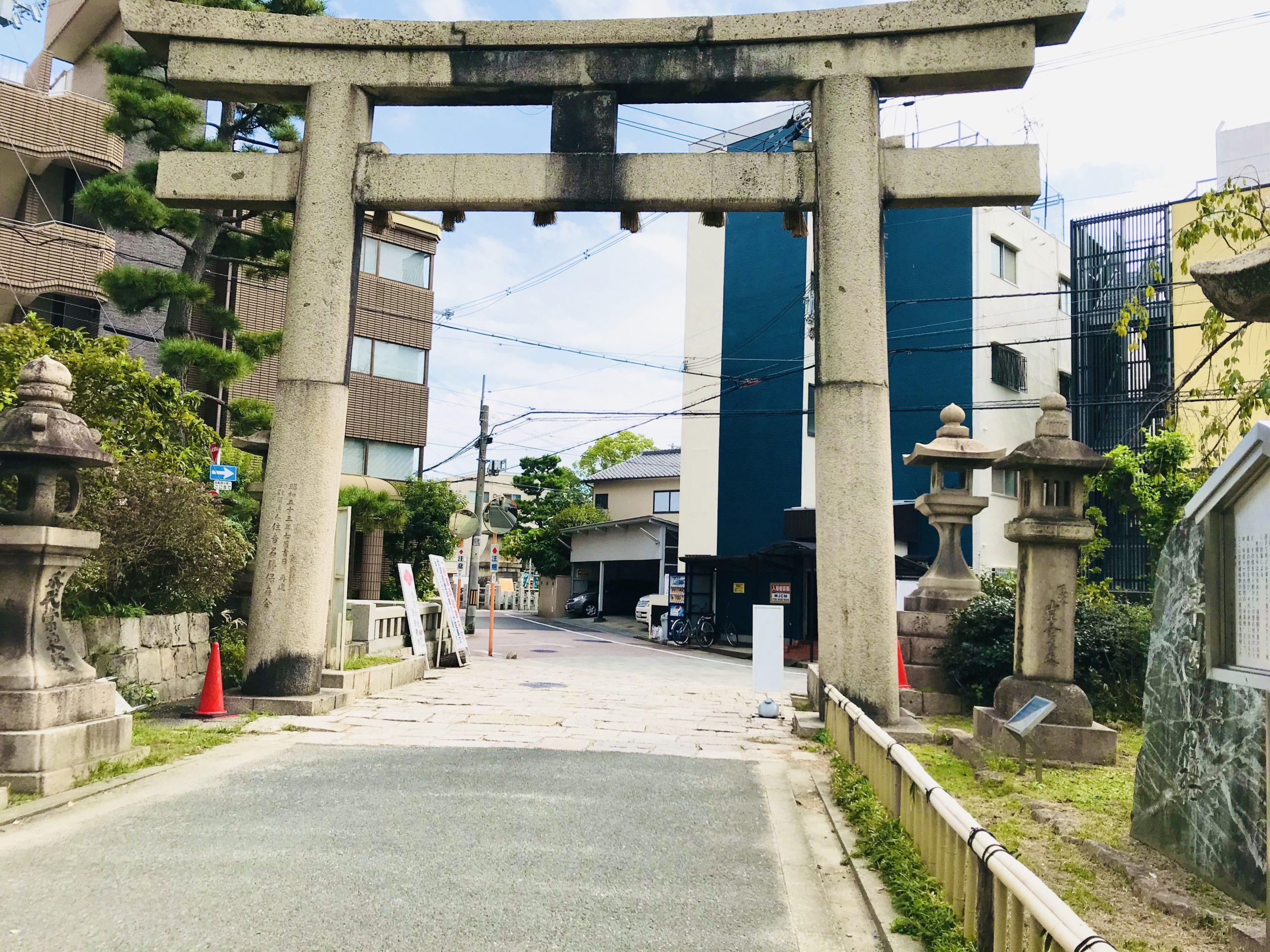 初辰まいりの浅沢社へのルート