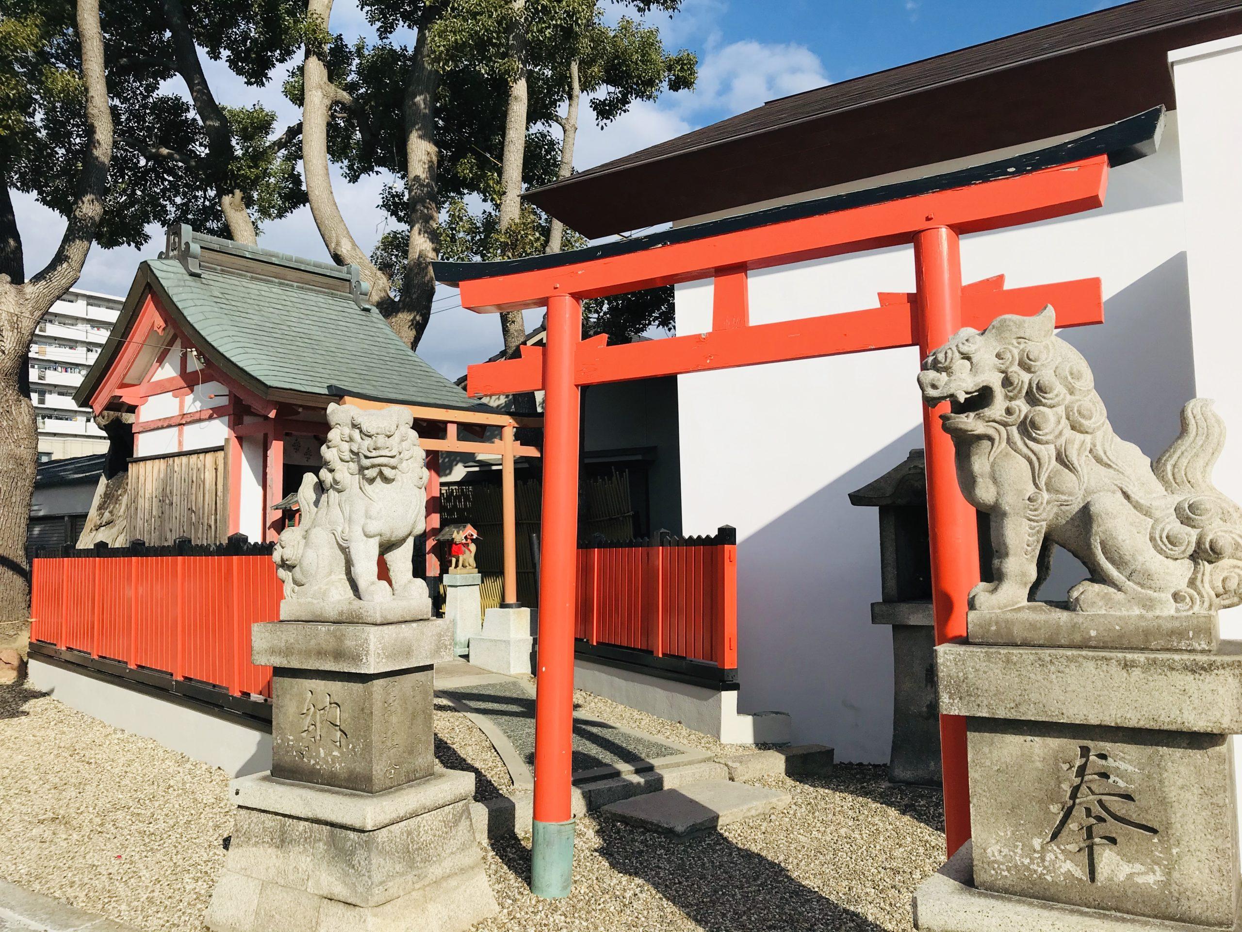 姫島神社の楠社・結び稲荷