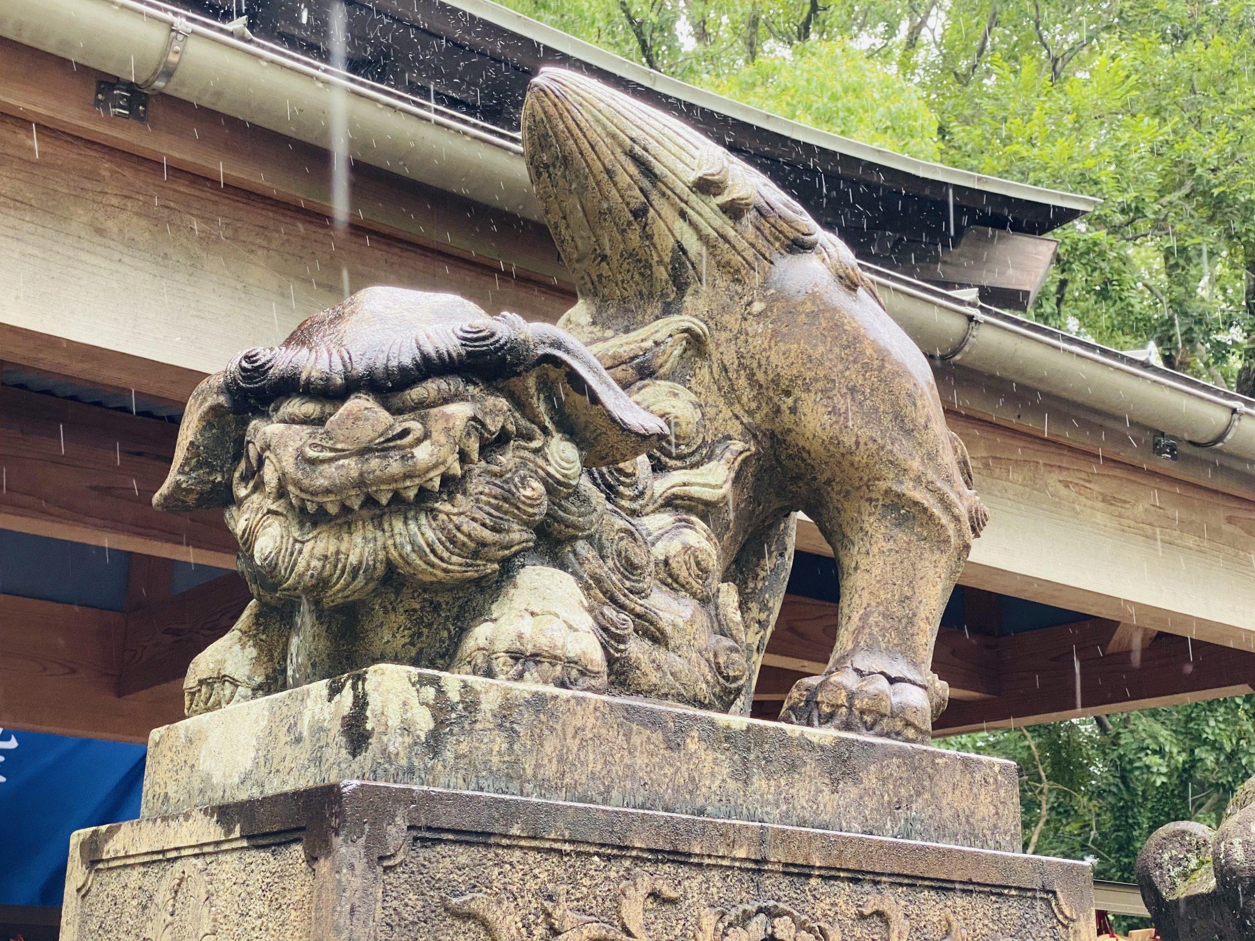 諫早神社の狛犬さん