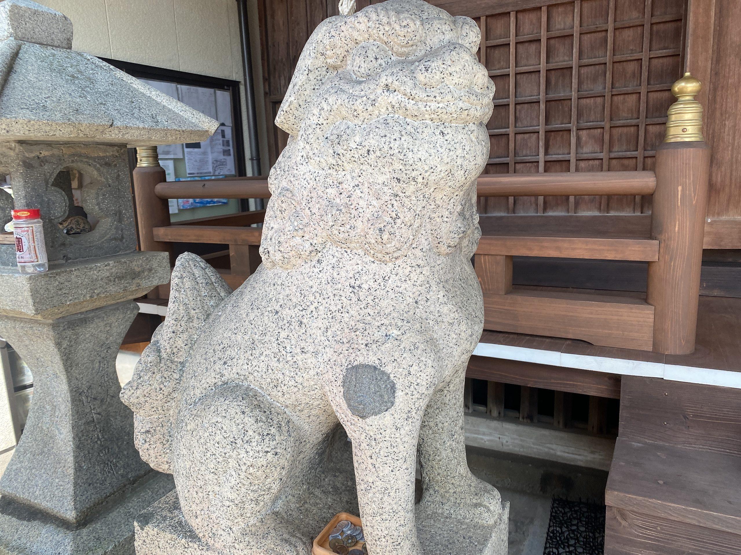 宮地嶽八幡神社の狛犬