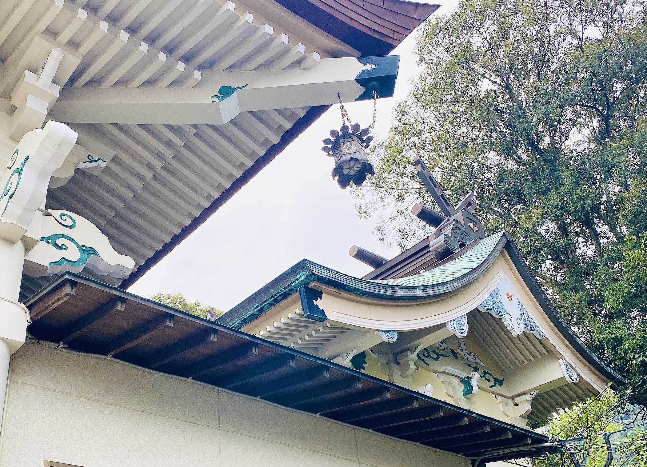 武雄神社の白くて美しい社殿