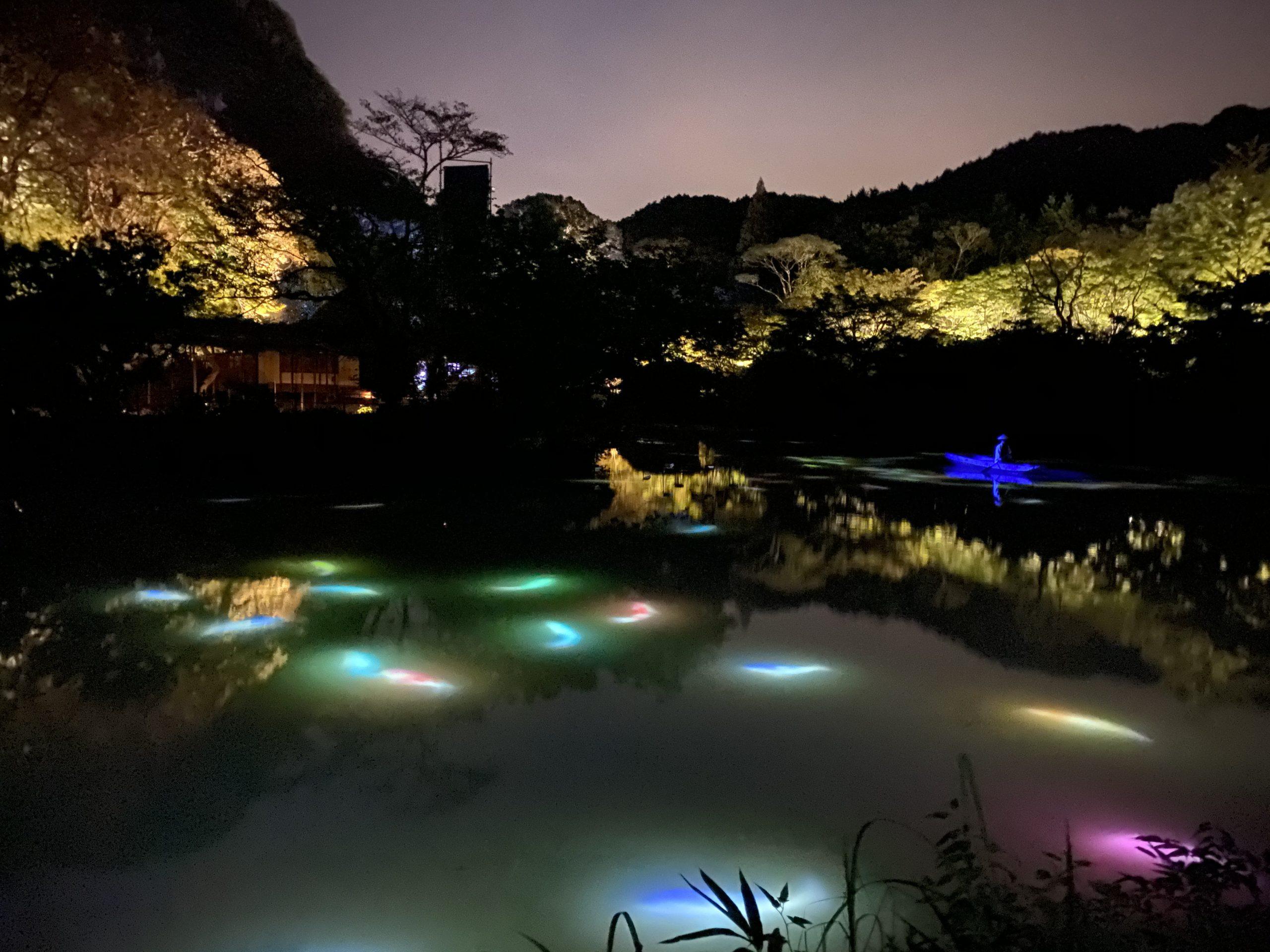 御船山楽園ライトアップ
