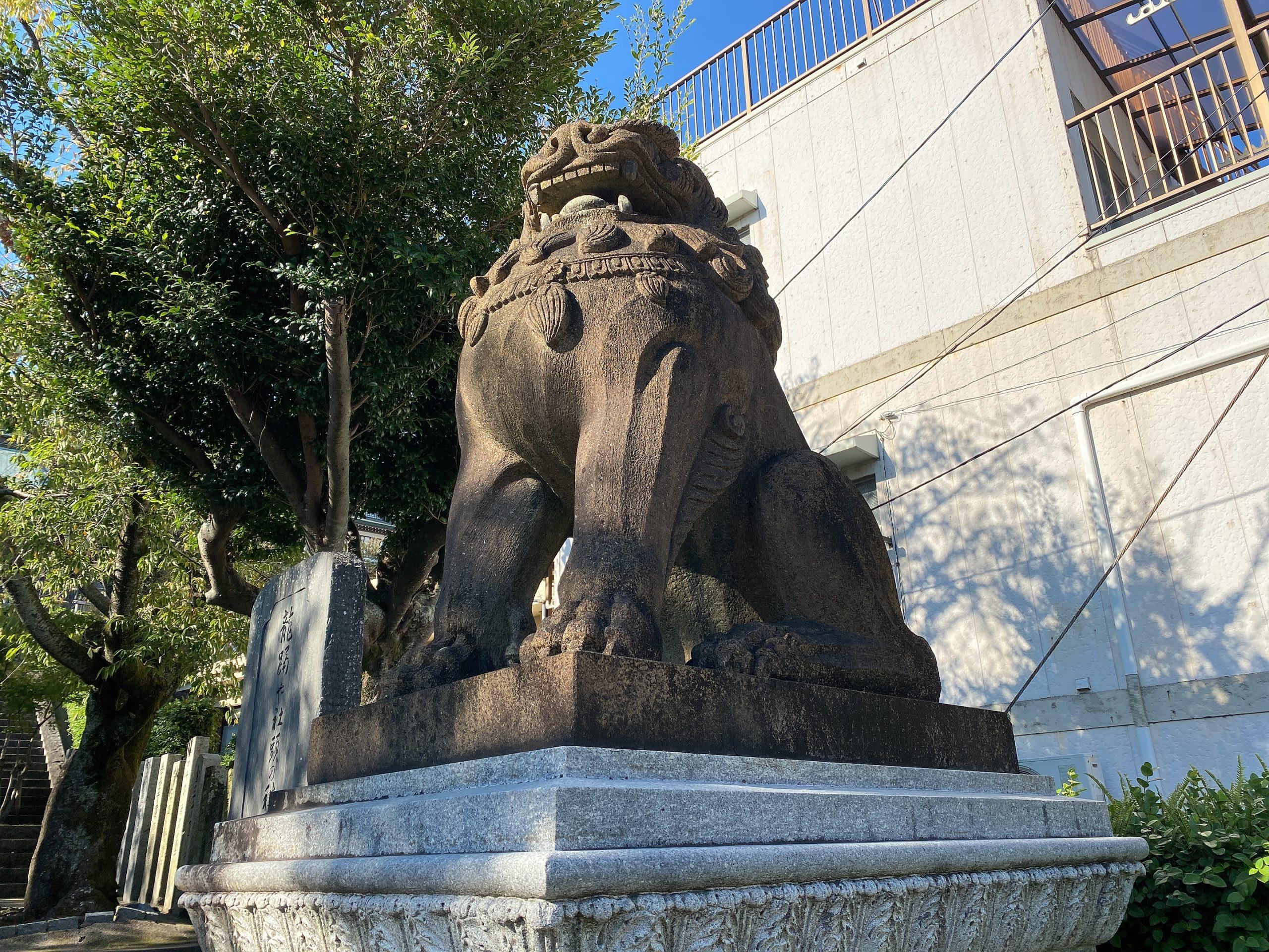 鎮西大社諏訪神社の狛犬